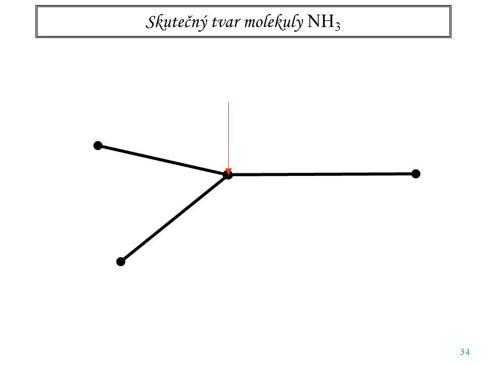34 Skutečný tvar molekuly NH 3