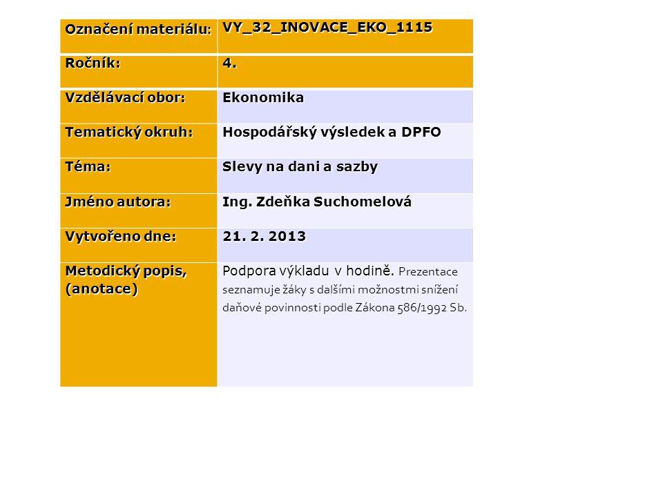 Označení materiálu : VY_32_INOVACE_EKO_1115Ročník:4.