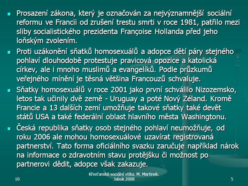10 Křesťanská sociální etika.M. Martinek.
