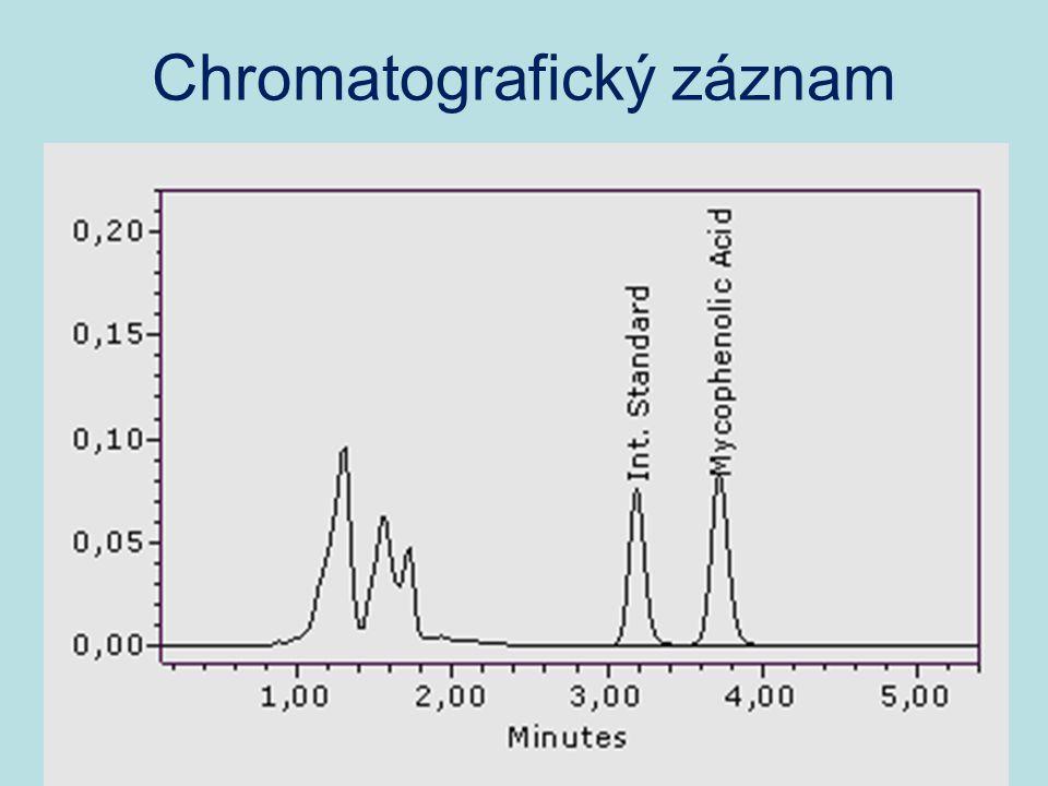 Chromatografický záznam