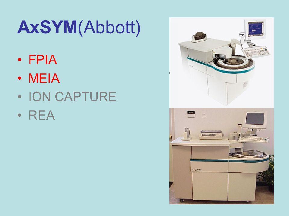 27 AxSYM(Abbott) FPIA MEIA ION CAPTURE REA