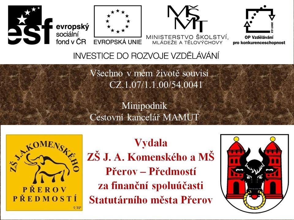 ZŠ J.A.Komenského a MŠ, Přerov-Předmostí, Hranická 14 MAŠMULMA (MAlé Školní MUzeum Lovců MAmutů)