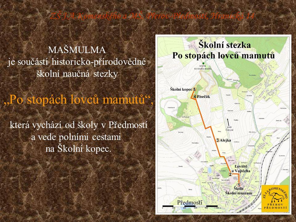 ZŠ J.A.Komenského a MŠ, Přerov-Předmostí, Hranická 14 Muzeum se zabývá obdobím lovců mamutů, tj.