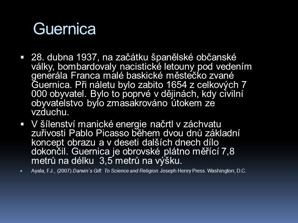 Guernica  28. dubna 1937, na začátku španělské občanské války, bombardovaly nacistické letouny pod vedením generála Franca malé baskické městečko zva