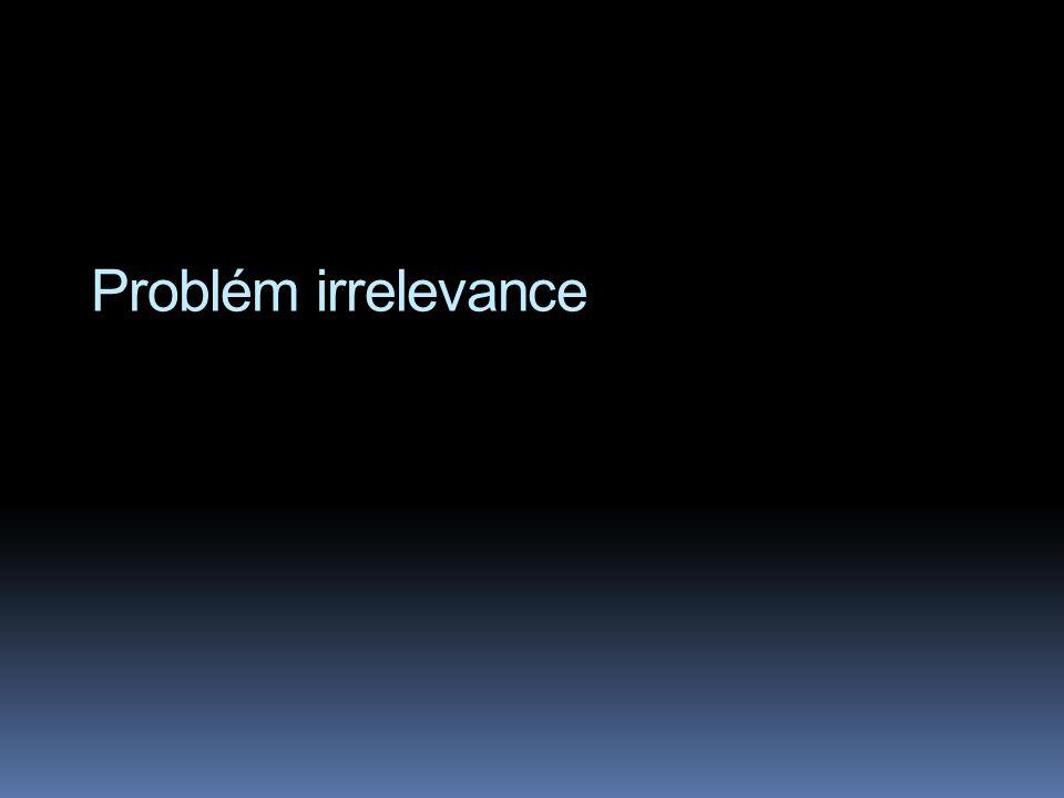 Problém irrelevance