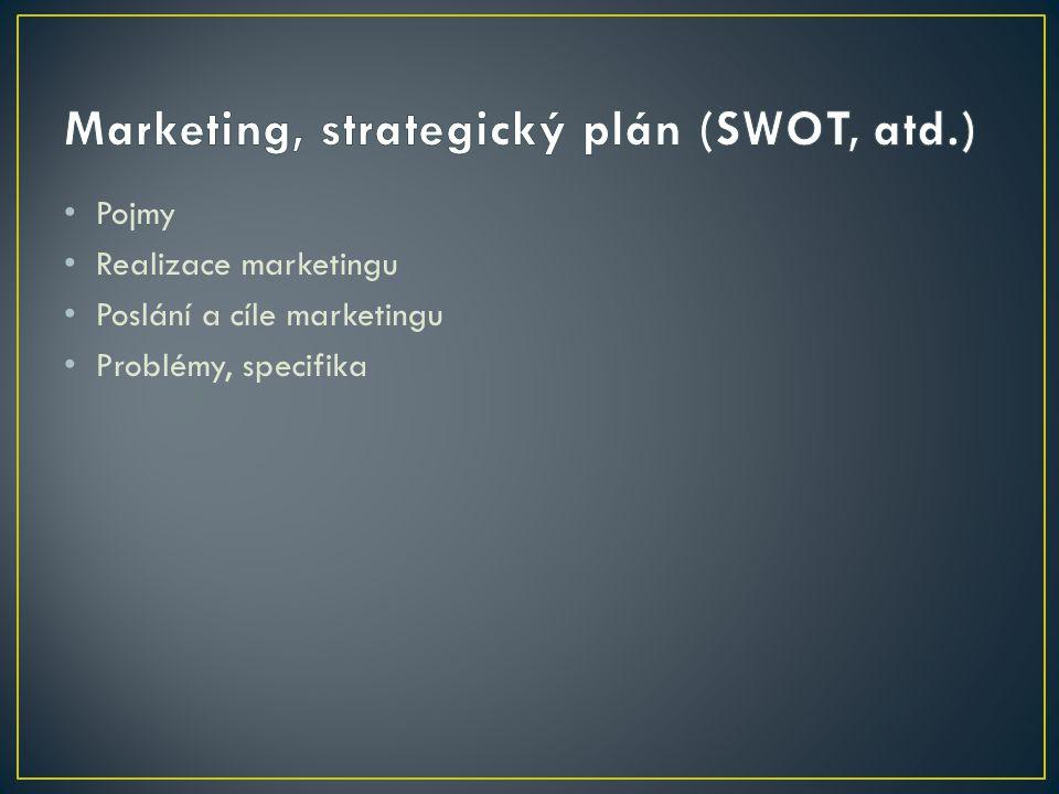 Pojmy Realizace marketingu Poslání a cíle marketingu Problémy, specifika