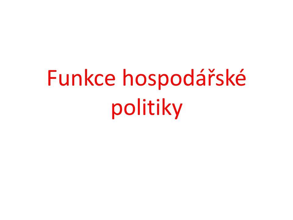Funkce hospodářské politiky
