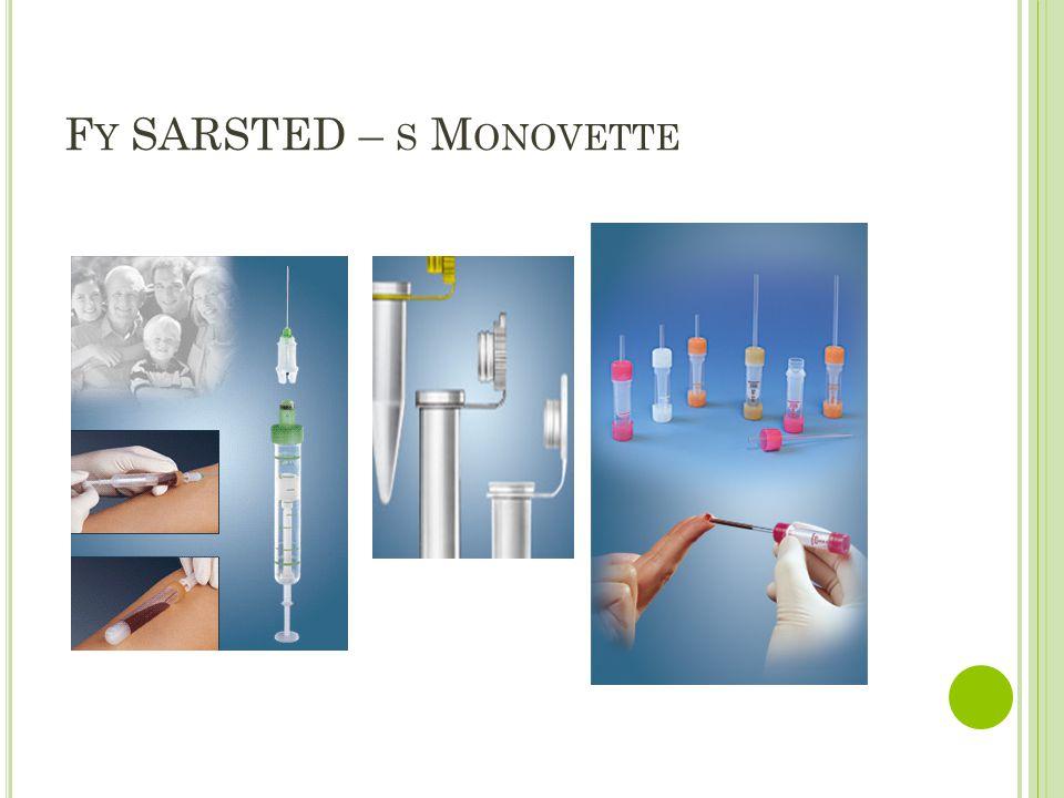 C HARAKTERISTIKA JEDNOTLIVÝCH ODBĚRŮ Hematologické vyšetření – KS+Rh, křížová zkouška, hemokoagulační vyšetření, KO,FW Biochemické vyšetření – ionty, metabolity, bílkovina, lipidy, hormony, léky, toxiny,… Mikrobiologické vyšetření (hemokultura) – při podezření na bakteriémii, vždy u vzestupu TT, 1x odběr na anaerobní vyšetření a 1x na aerobní vyšetření.