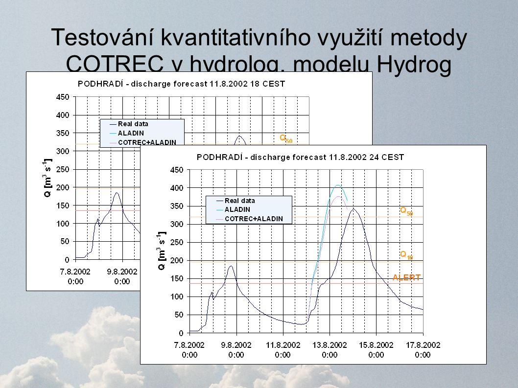 Testování kvantitativního využití metody COTREC v hydrolog. modelu Hydrog