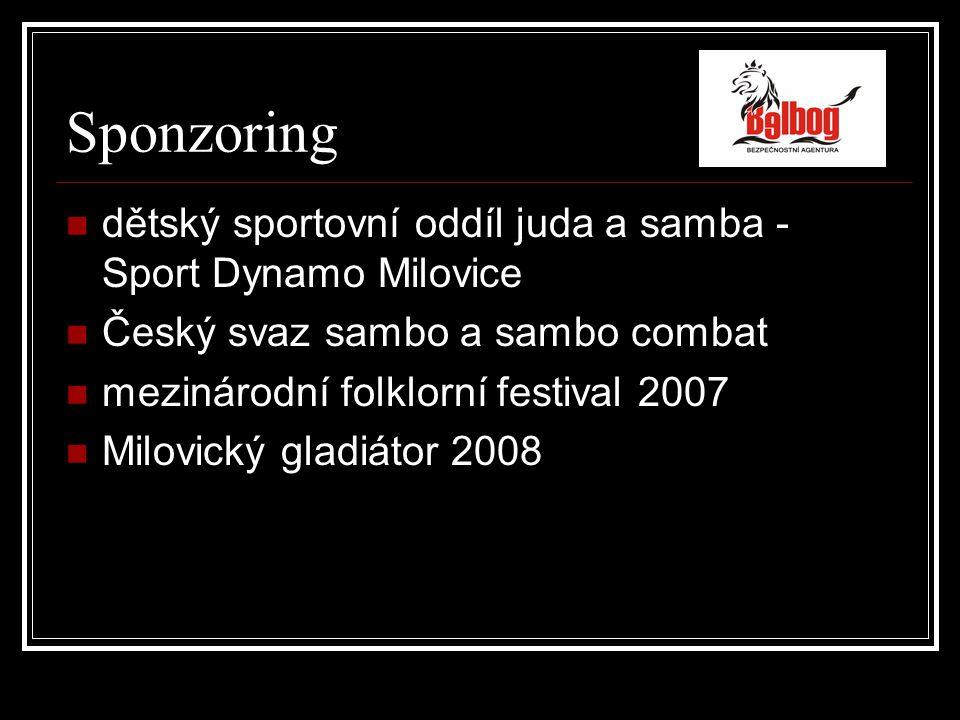 Odkazy spolupracujeme www.ssi.cz www.sportdynamomilovice.cz www.kentaurmilovice.cz www.fabdefense.cz www.hummer.cz www.sambo-combat.cz www.czech-sambo.cz