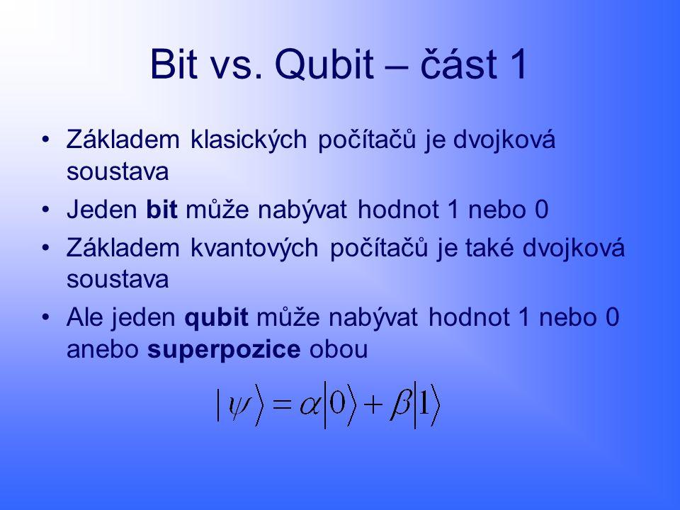 Registr Registr qubitů je ekvivalent klasickému registru v počítačích (pamět na které provádí CPU výpočty).
