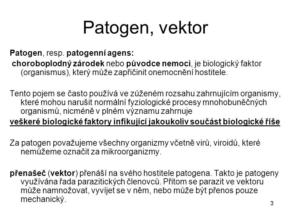 3 Patogen, vektor Patogen, resp.