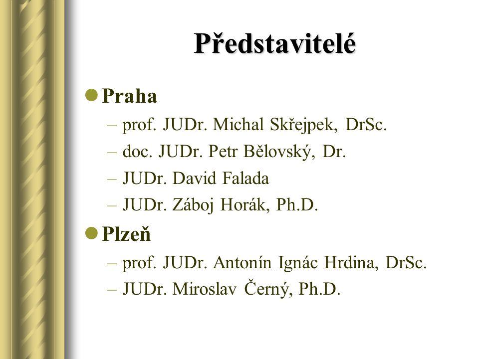 Představitelé Praha –prof.JUDr. Michal Skřejpek, DrSc.