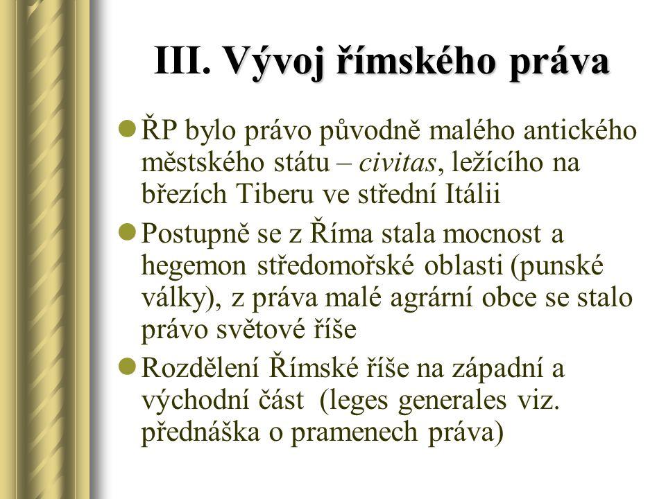 Vývoj římského práva III.
