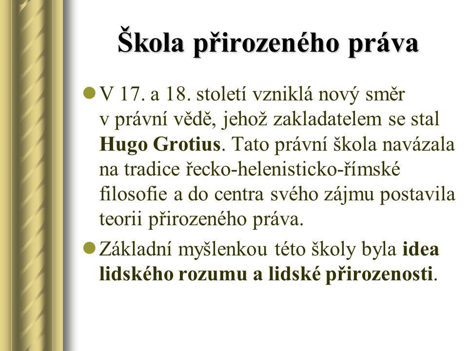 Škola přirozeného práva V 17.a 18.