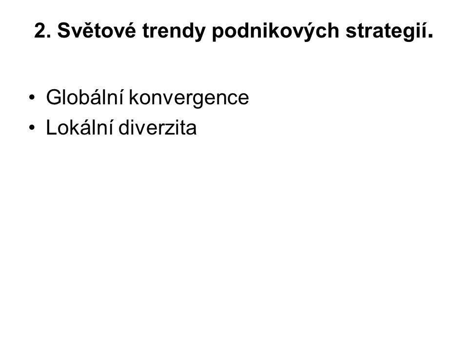 2. Světové trendy podnikových strategií. Globální konvergence Lokální diverzita