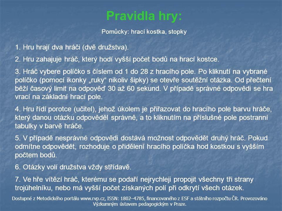 ŘEŠENÍ R ZPĚT Dostupné z Metodického portálu www.rvp.cz, ISSN: 1802–4785, financovaného z ESF a státního rozpočtu ČR.