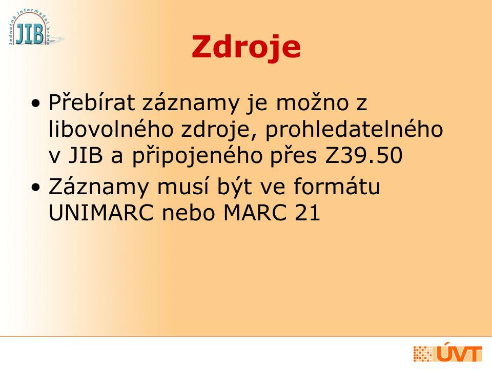 Co potřebujete pro využívání služby Přebírání záznamů pomocí JIB může zdarma využívat kterákoli česká knihovna disponující Z39.50 klientem integrovaným do automatizovaného knihovního systému, či externím Z39.50 klientem.