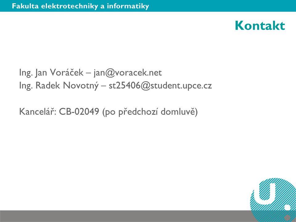 Kontakt Ing. Jan Voráček – jan@voracek.net Ing.