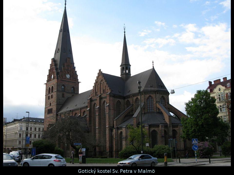 Gotický kostel Sv. Petra v Malmö