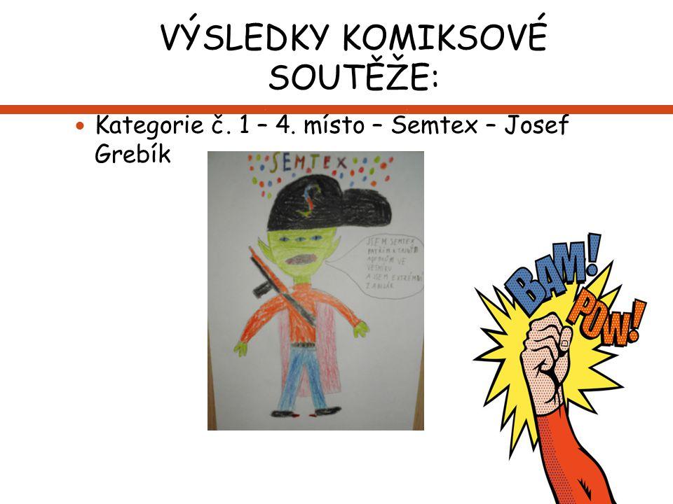 VÝSLEDKY KOMIKSOVÉ SOUTĚŽE: Kategorie č. 1 – 4. místo – Semtex – Josef Grebík