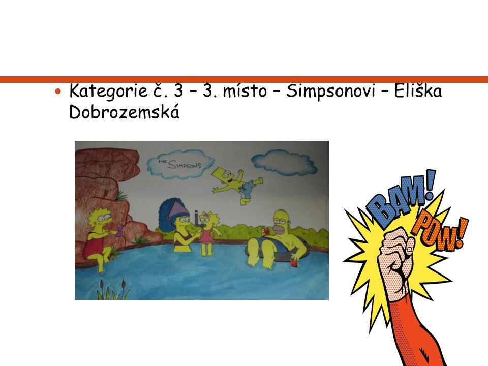 Kategorie č. 3 – 3. místo – Simpsonovi – Eliška Dobrozemská