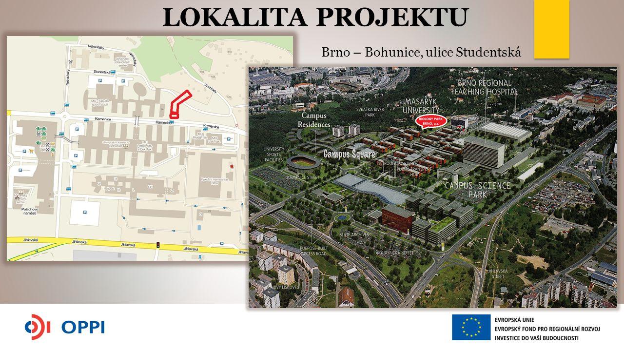 Brno – Bohunice, ulice Studentská LOKALITA PROJEKTU