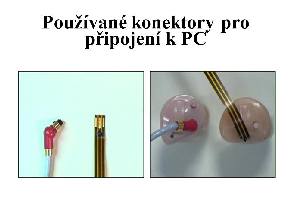 Používané konektory pro připojení k PC
