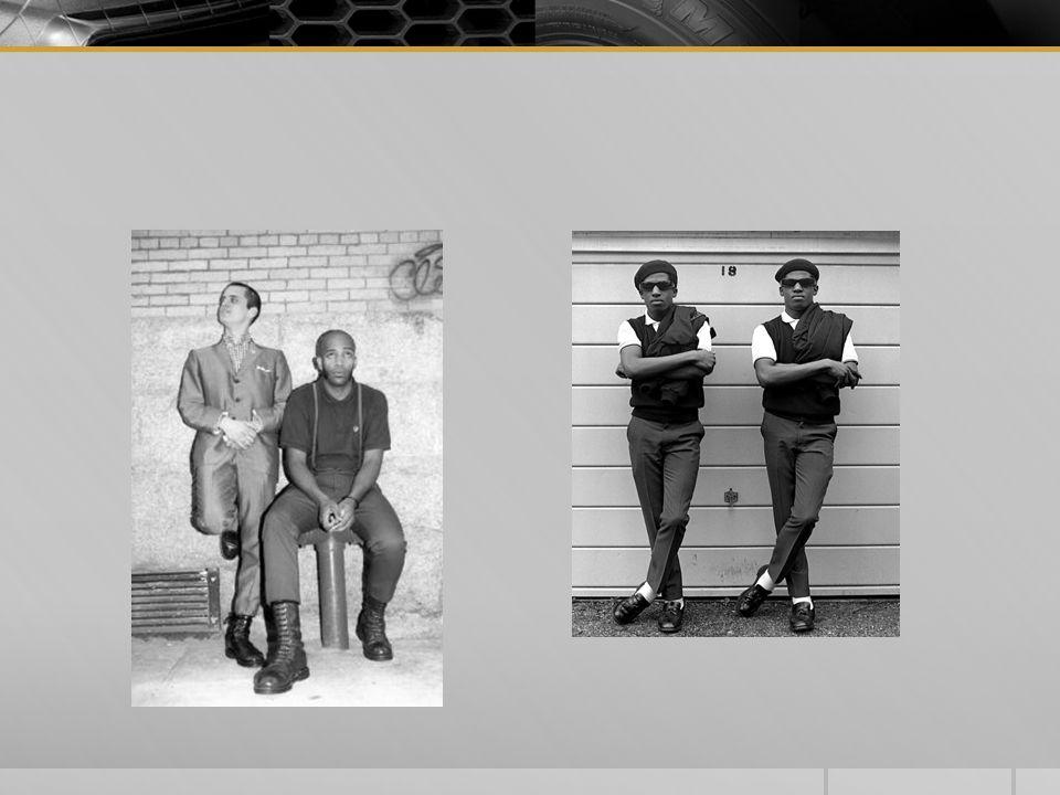 " 1967 – Skinheads  ""Chodime na fotbal, poslócháme SKA, černochy máme pořád rádi (když teda makajou), vlasy už máme jak Grepl s Bezdomnikovem a nemáme rádi hippíky (furt by jen zewlili)"