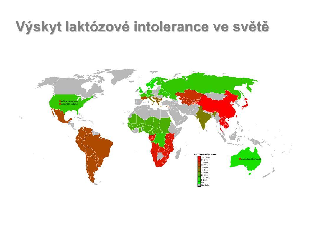 Výskyt laktózové intolerance ve světě