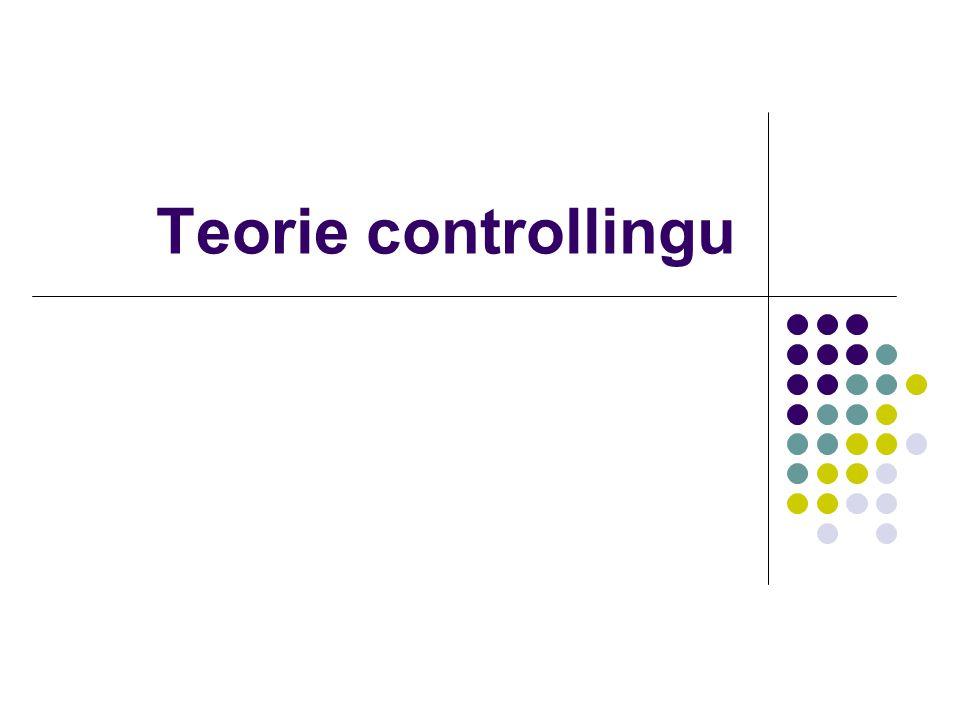 Controlling v praxi Organizace (=institucionalizace) Generální ředitel Finanční ředitel ControllingÚčtárna Financování (pohledávky daně, pojištění) IT oddělení Obchodní ředitel Výrobní (technický) ředitel