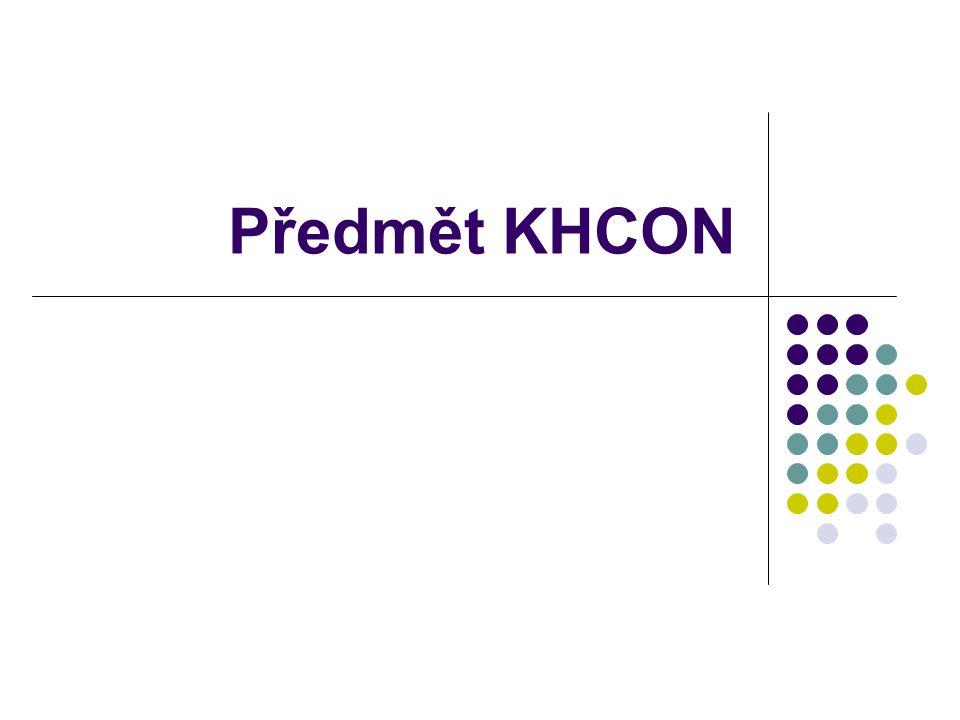 Předmět KHCON