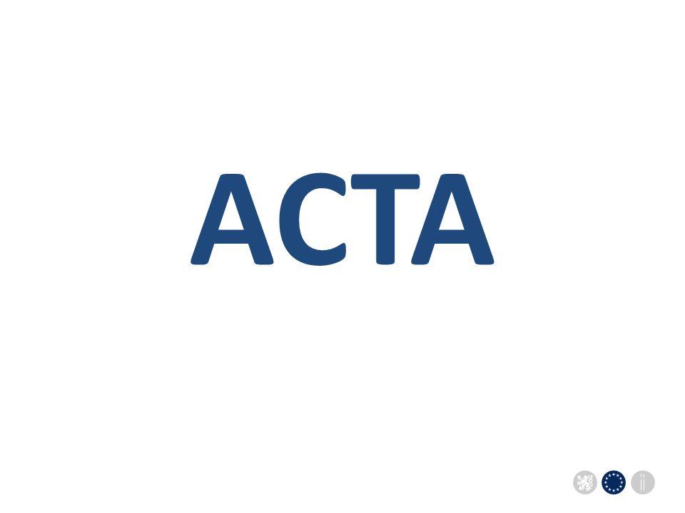Sekce pro evropské záležitosti Úřadu vlády ČRSekce pro evropské záležitosti Úřadu vlády ČR ACTA
