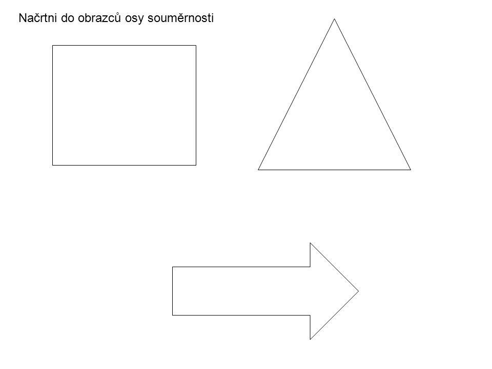 Načrtni do obrazců osy souměrnosti