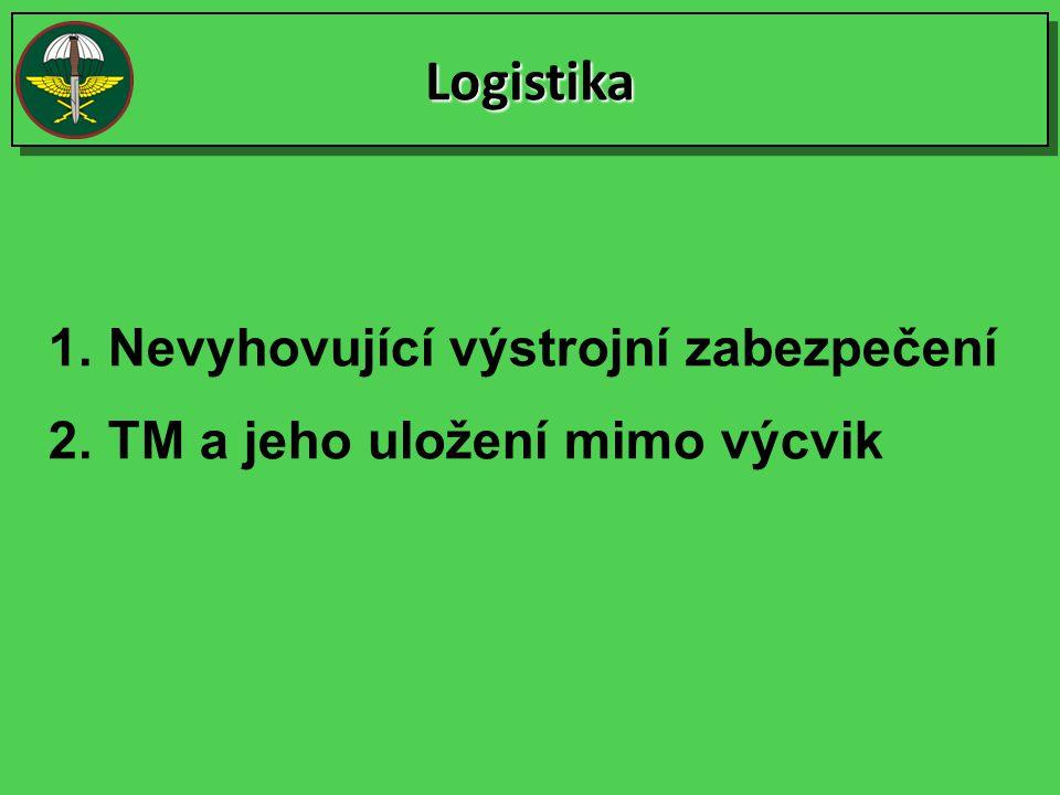 LogistikaLogistika 1.Nevyhovující výstrojní zabezpečení 2.TM a jeho uložení mimo výcvik