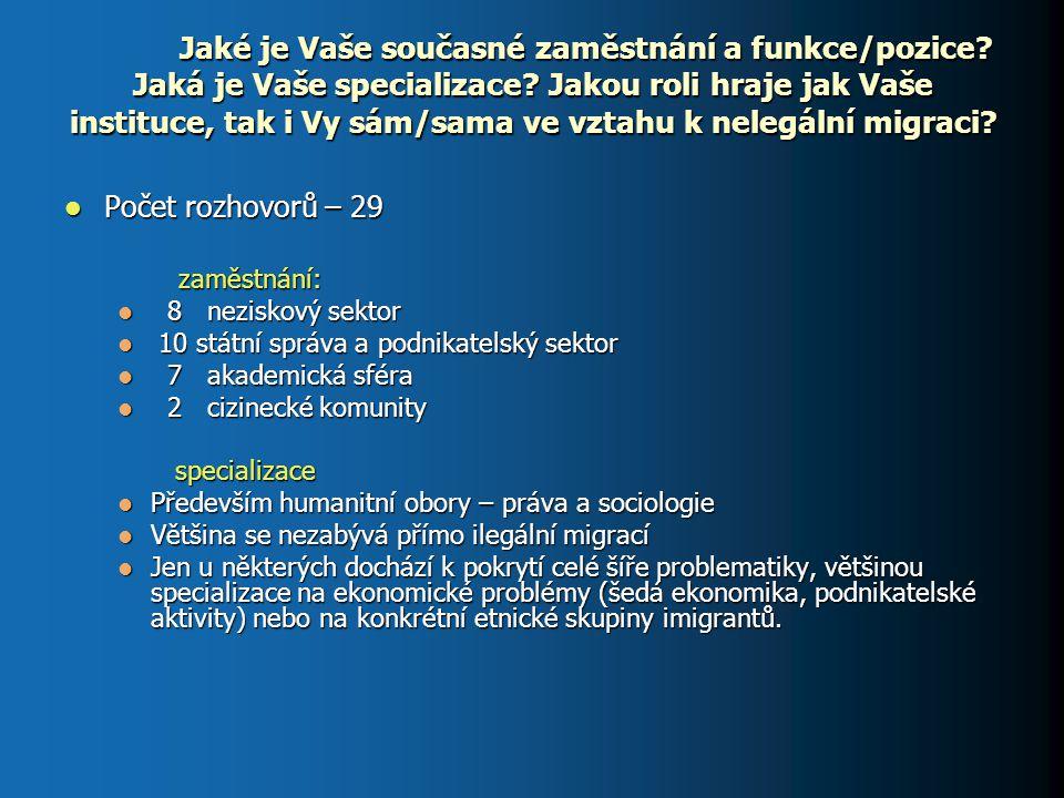 Jak byste definoval/a nelegální či kvazilegální ekonomické aktivity migrantů v Česku.