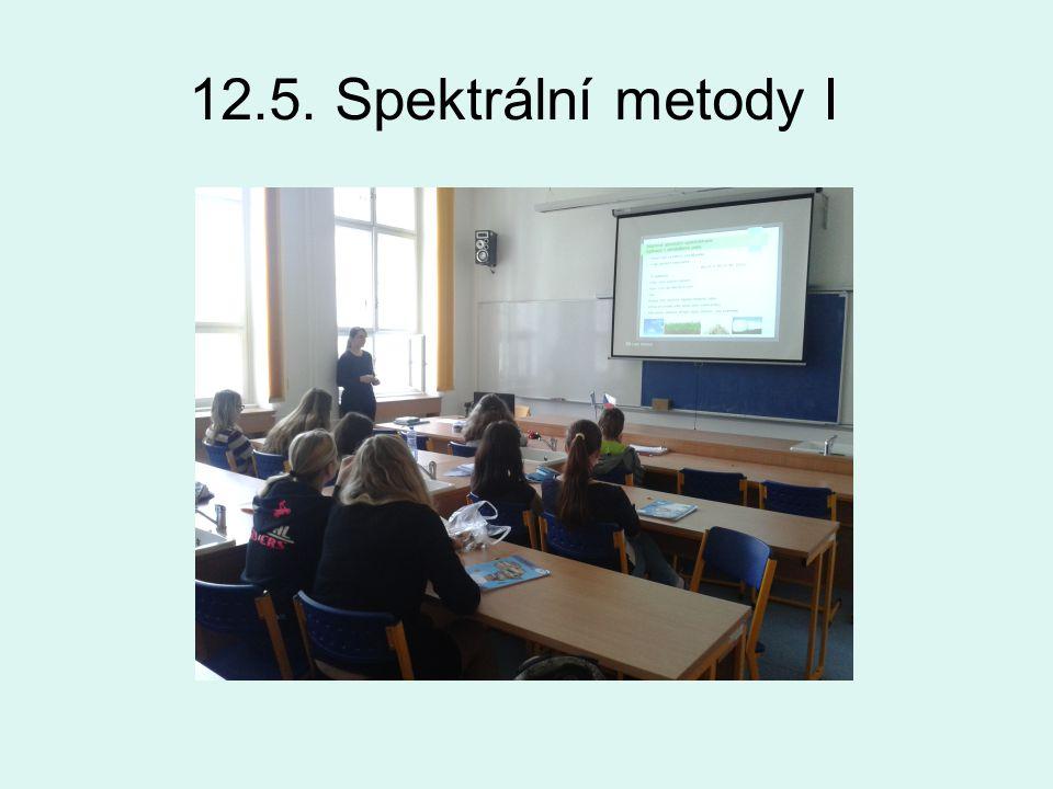 12.5. Spektrální metody I