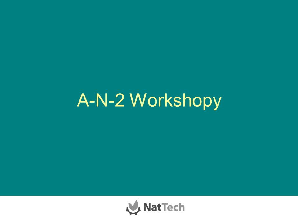 A-N-2 Workshopy