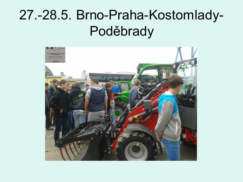 27.-28.5. Brno-Praha-Kostomlady- Poděbrady