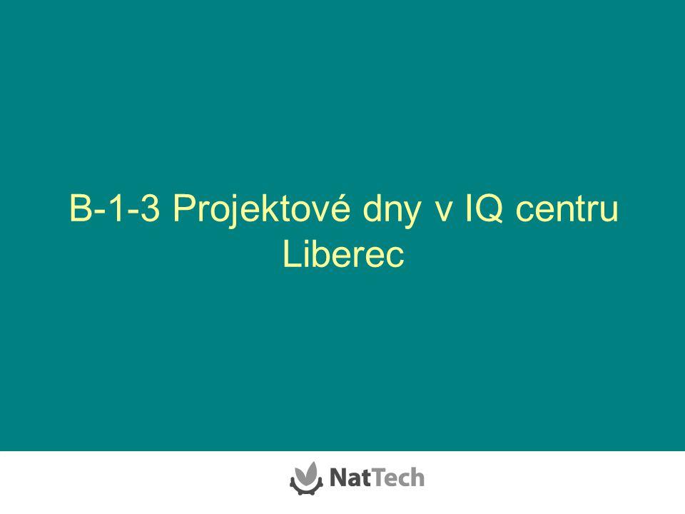 B-1-3 Projektové dny v IQ centru Liberec
