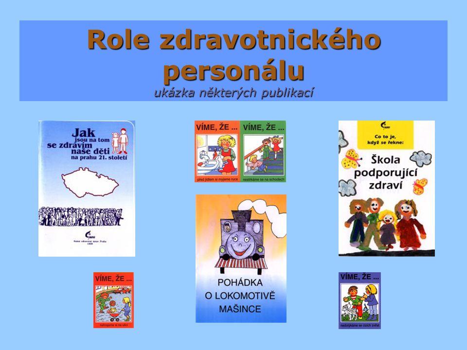 Role zdravotnického personálu ukázka některých publikací