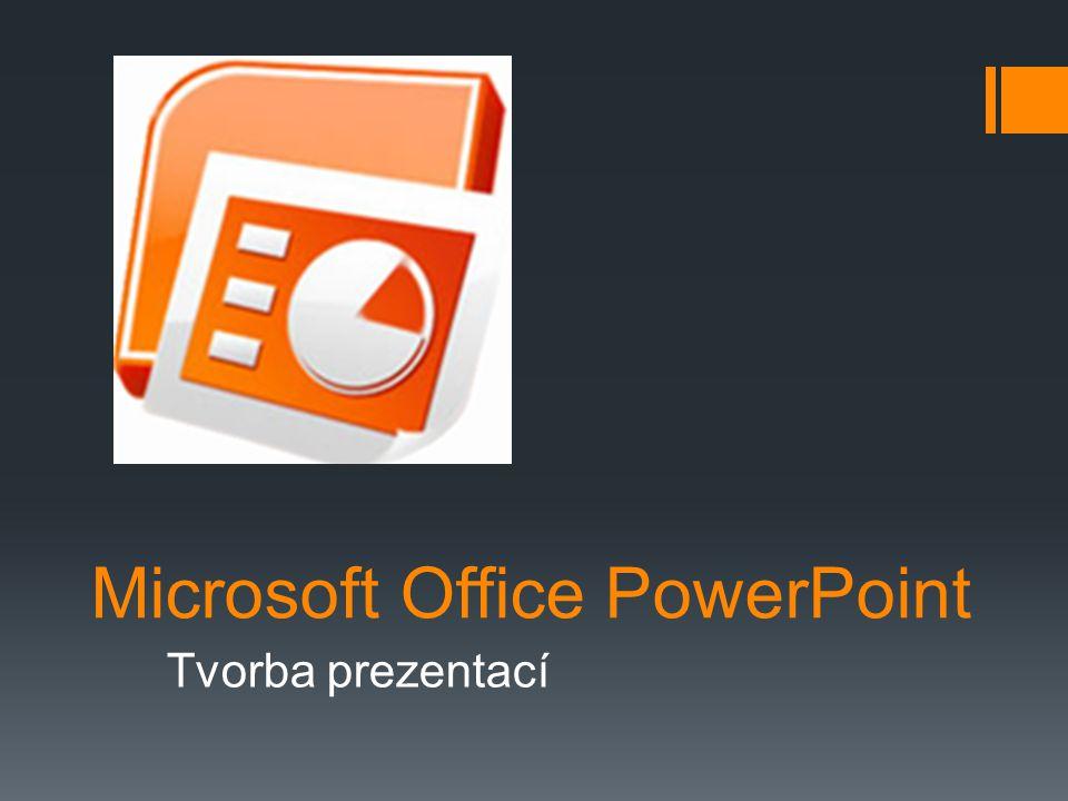 MS Office PowerPoint  Prakticky nejpoužívanější program pro vytváření prezentací na světě.
