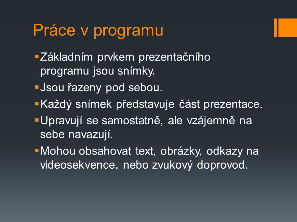 Prezentační programy zdarma Open Office - Impress Libre Office - Impress