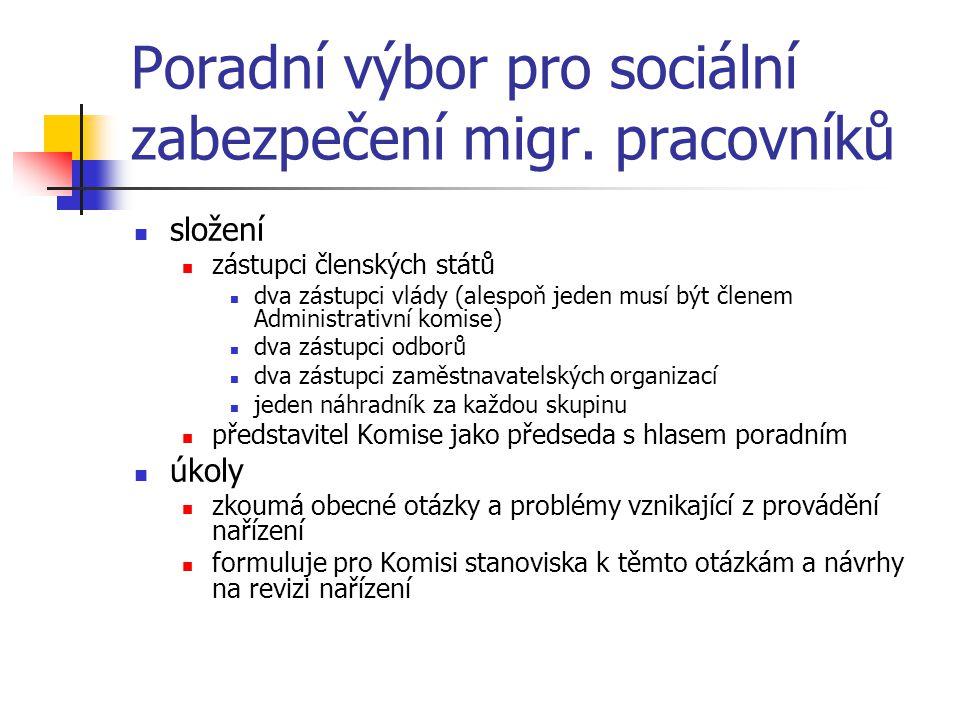 Poradní výbor pro sociální zabezpečení migr.