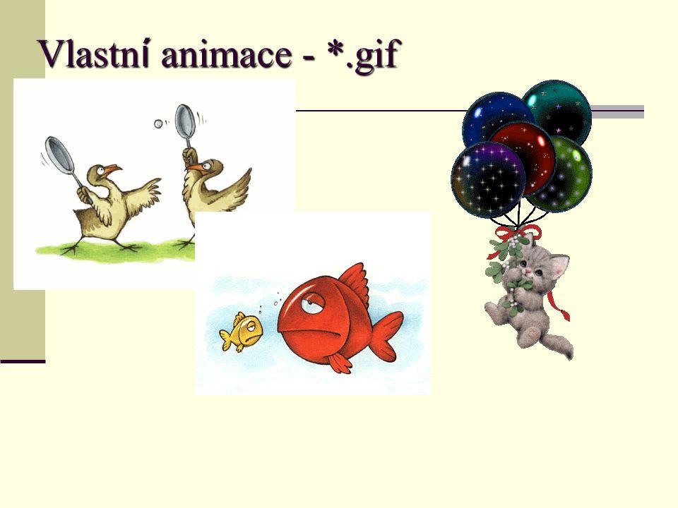 Vlastn í animace - *.gif