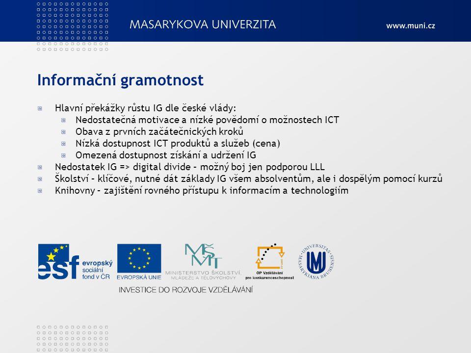 Další projekty pro rozvoj IG a školství ICT ve vzdělávání Pro IG na VŠ komise Informačního vzdělávání na vysokých školáchkomise Jednota školských informatiků Založena 12.4.