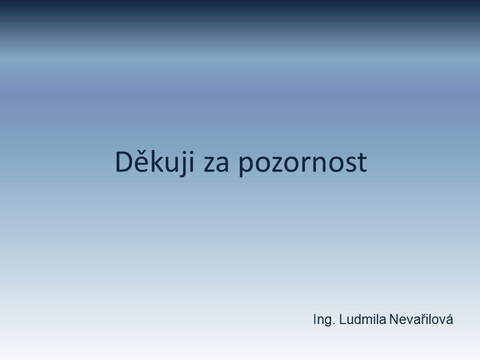 Děkuji za pozornost Ing. Ludmila Nevařilová