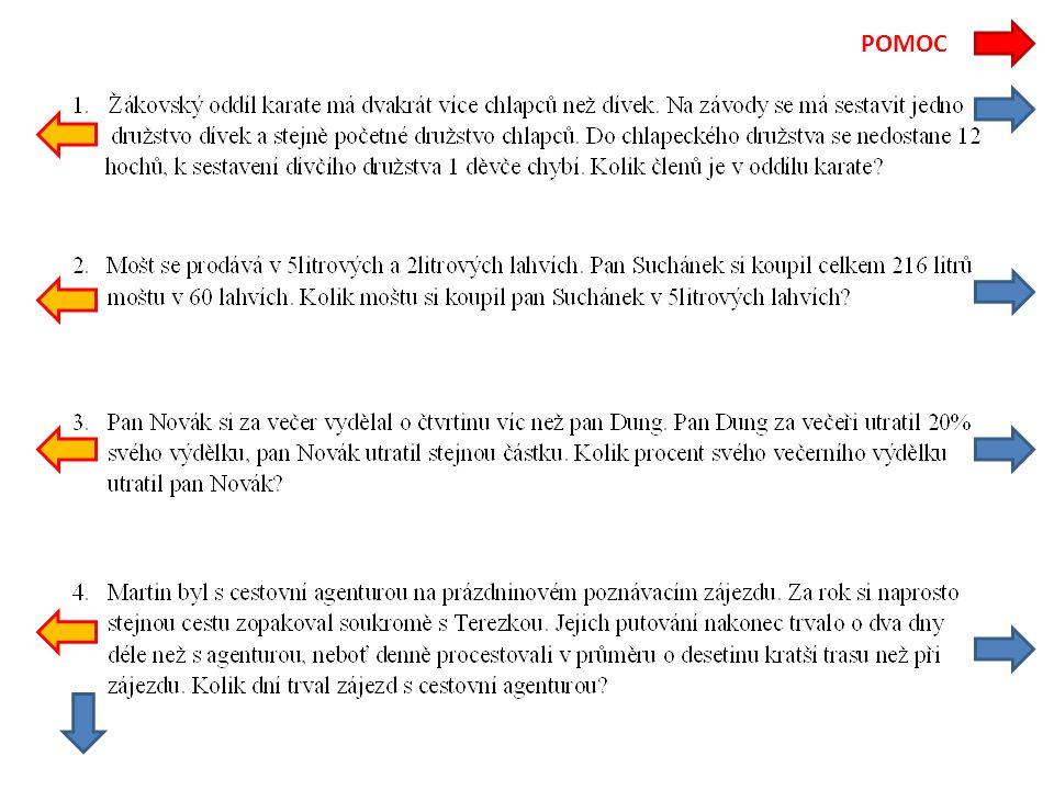 Výdělek p.Nováka je o čtvrtinu větší než výdělek p.