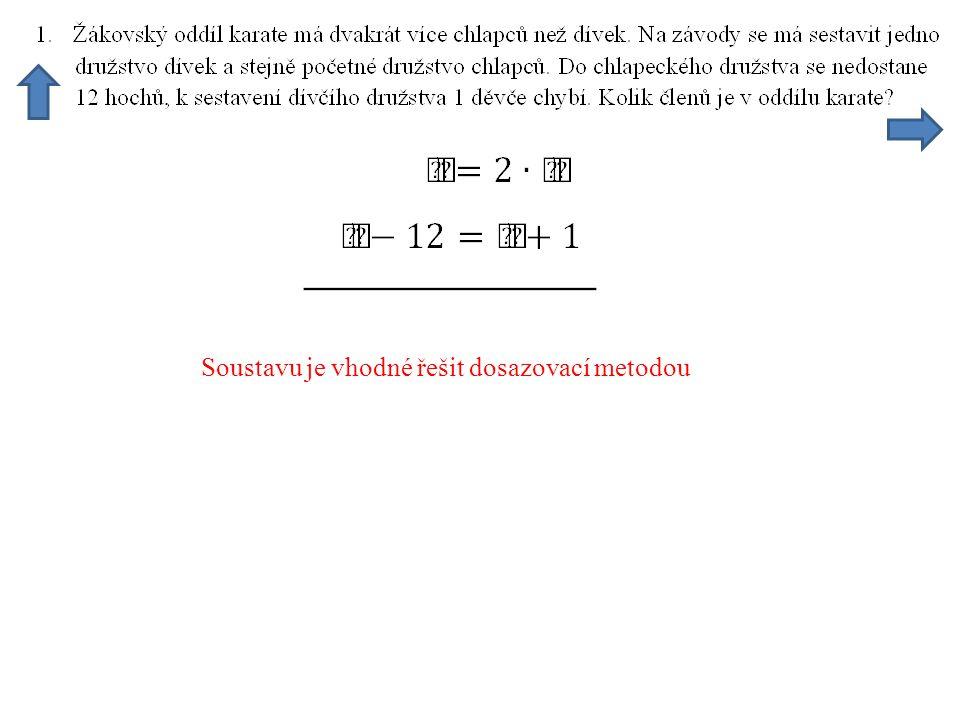 Z rovnice vypočteme procentovou část k