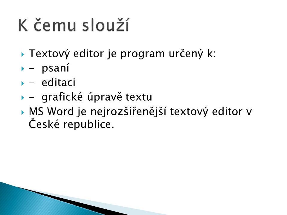 Jak ho spustíme Klepneme na tlačítko Start-Všechny programy-Microsoft Office-Microsoft Word 2010